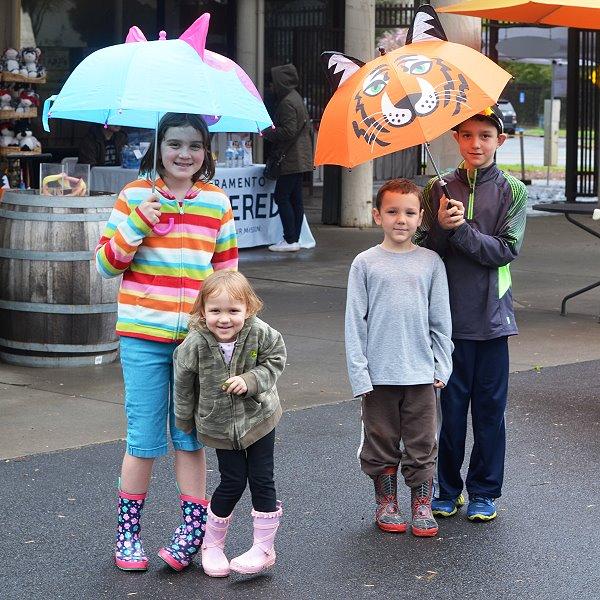 Children in Rain