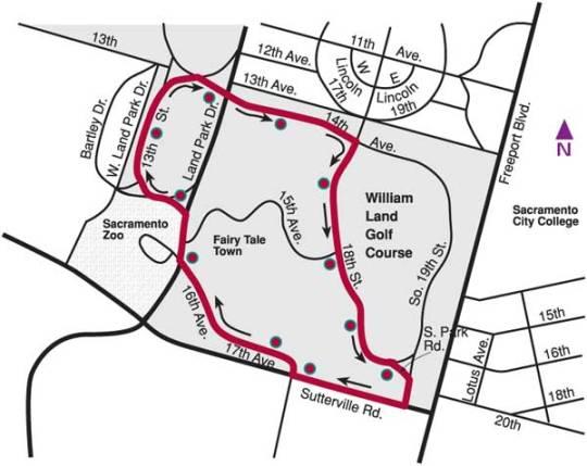 Ice Cream Safari Shuttle Map