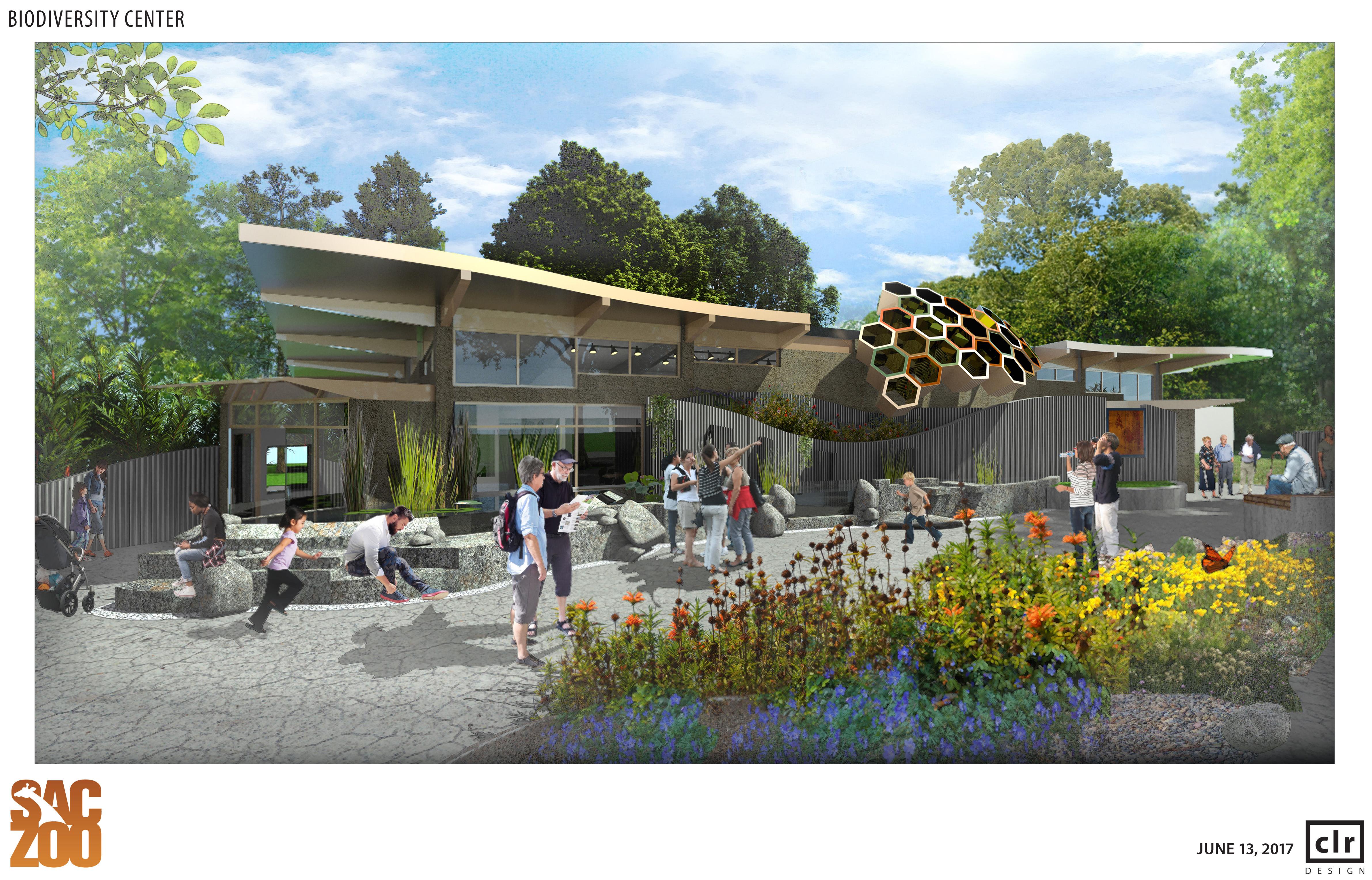 Biodiversity Center Rendering - Outside
