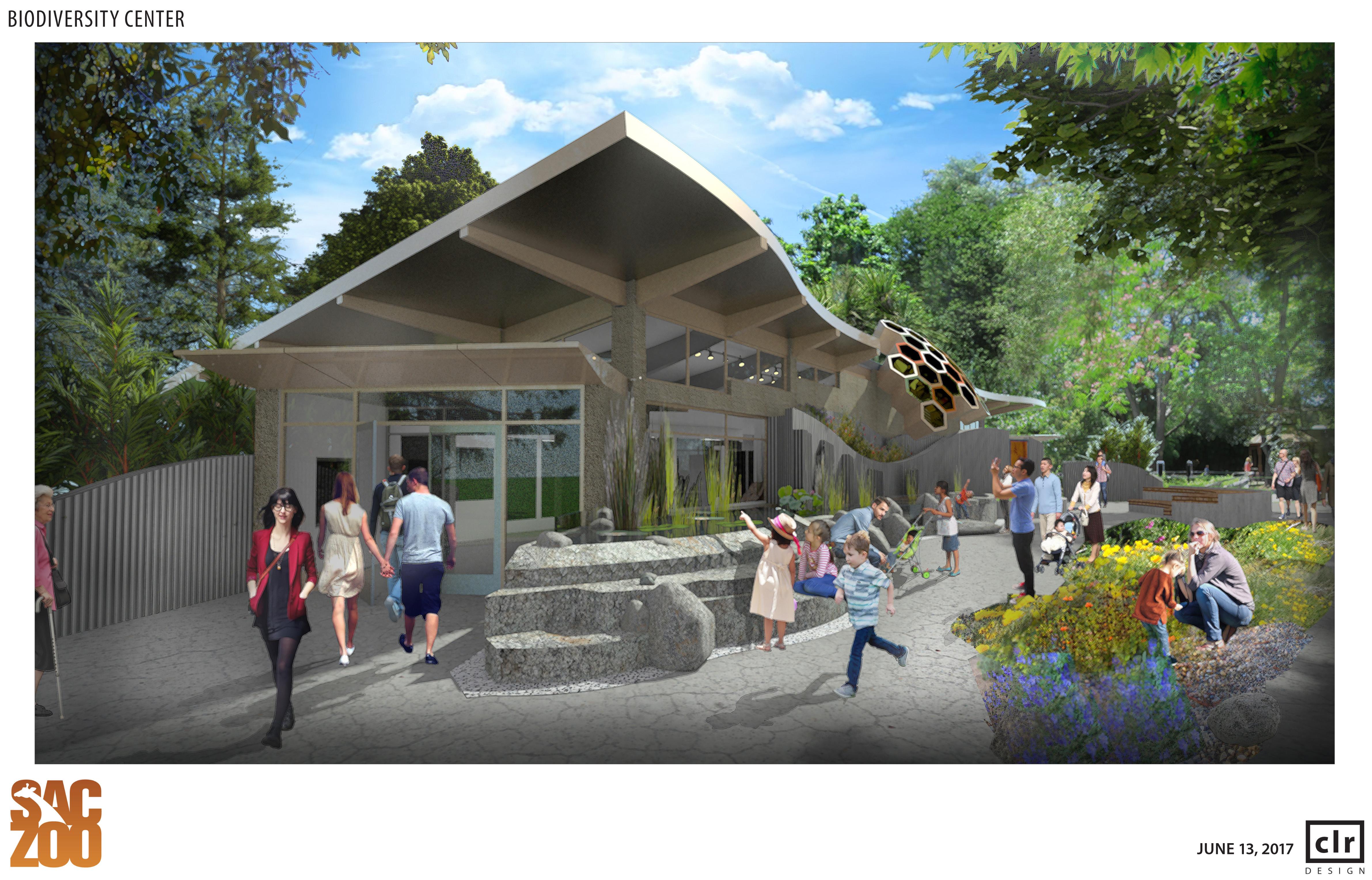 Biodiversity Center Rendering - Entrance