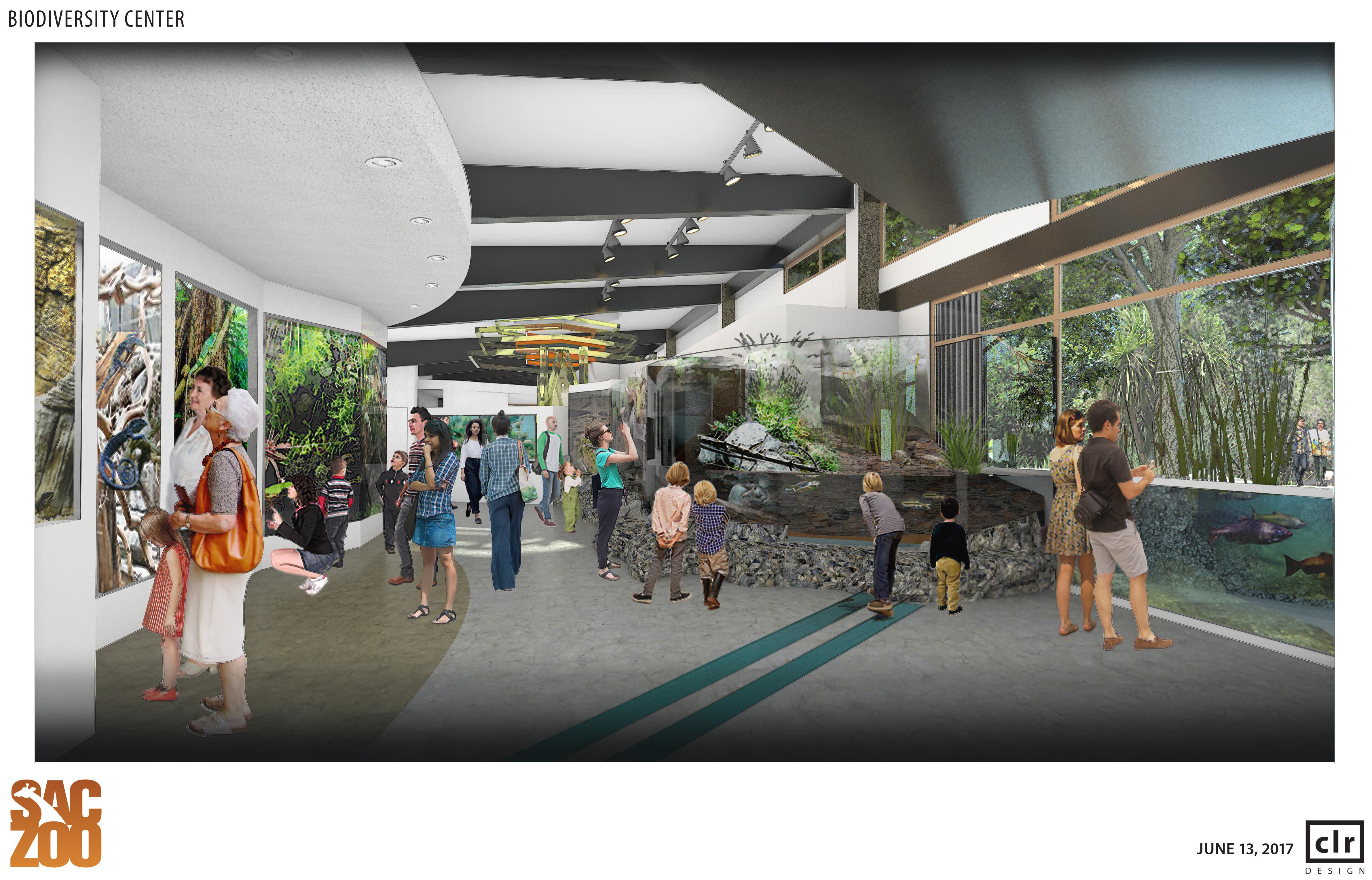 Biodiversity Center Rendering - Inside