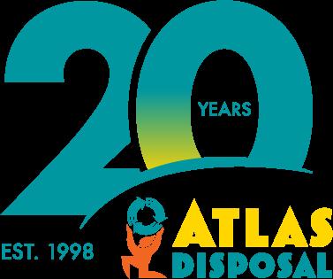 Atlas Disposal 20th Anniversary logo