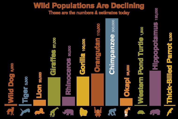 Wild Populations bar graph