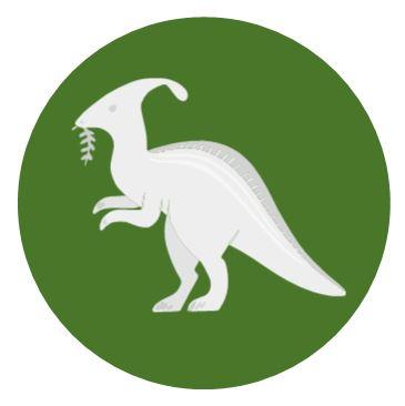 Parasaurolophus eating vegetation