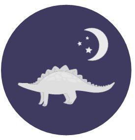 Stegosaurus under moon