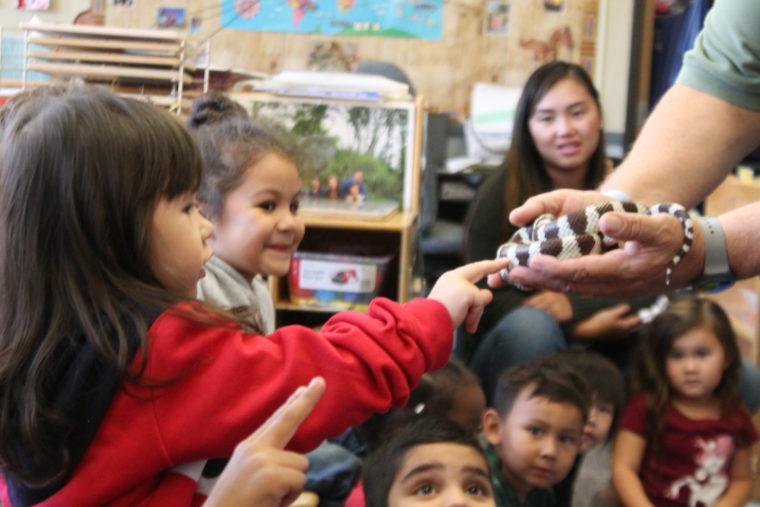 Preschool students enjoying ZooMobile program