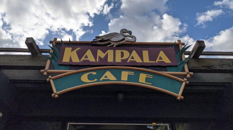 Kampala Cafe sign