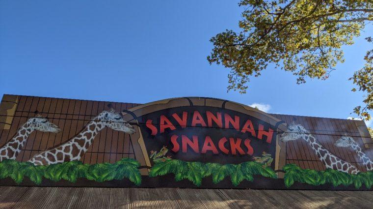 Savannah Snacks sign