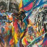 Press Room Auction 2021 Orangutan Mixed Media painting